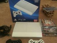 Selling a gently used White PS3, has a 500gb hdd,
