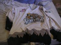 Authentic white, non lettered or game worn jersey. Worn