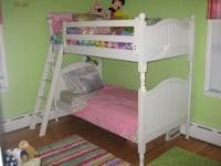This is a 6 year old, very well made white bunk bed and