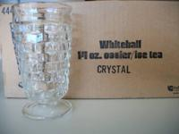 Whitehall 14oz. Crystal Ice Tea Glasses, made by