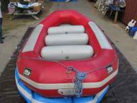 14' STAR self bailer whitewater raft with 3 thwarts,