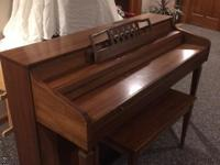 Whitney by Kimball spinet upright piano.  All