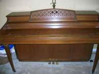 Whitney Spinet Piano manufactured by Kimball.Serial #