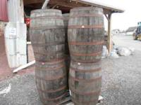 Whole Whisky Barrels, rain water, decoration, bar top,