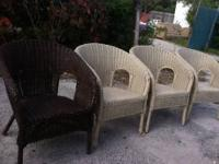 Wicker Arm Chair $28 Each 3 Cream 1 Brown Chabad Thrift
