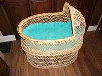 CUTE WICKER BABY'S BASSINET $75.00 CALL  Location: