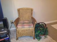 Wicker Chair in gold finish. Call . // //]]> Location: