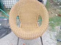 wicker chair in great condition asking 50 obo