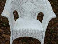 Wicker Chair (White) $40. Call (