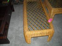 glass top wicker coffee table $79 glass top wicker end