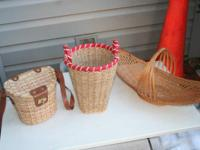 3 baskets...  1 - small purse like lined basket with