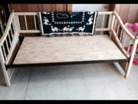 Ivory Wicker Daybed Great shape Board is just extra