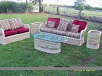 For Sale (5) piece wicker furniture. Includes sofa,