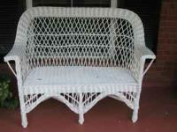 Wicker furniture. Couch $50.00, Chair $75.00, Rocker