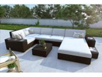 Type:GardenType:FurnitureWicker Lounge Set Asti - Poly