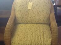 Wicker Side Chair  This wicker side chair is in great