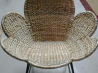 Butterfly wicker/straw chair, good condition. Really