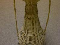 vintage Wicker Vase. Great condition. $10.00.  Found at