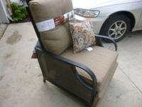 THIS IS A BRAND NEW LAZY BOY RESIN WICKER RECLINER IT