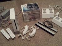 Wii bundle has everything in photos. system, charging