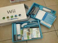Hardly used Wii Sports set - in original box, with all