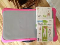 Wii fit board/ pink board cover/ wii fit and wii fit