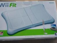 Wii fit, NEW, box never opened (still factory sealed).