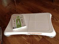 Wii fit Plus game with balance board. Excellent
