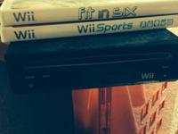 Nintendo Wii game system like new. Choose 2 exercise