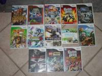 Wii Games asking $15.00 each can be reached at  some