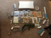 Wii games, balance board, and accessories. Willing to
