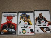Wii and Ps2 games for $10.00 ea.   show contact info