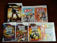 Glee games- $5 each  all others are $8 each   **Must