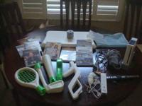 -Wii Console with power cord, RCA cable, sensor bar,