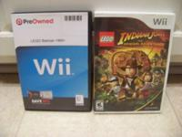 LIKE NEW, WII LEGO BATMAN $10, WII LEGO INDIANA JONES