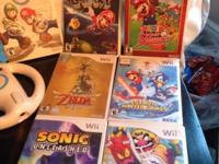 Wii Games!  Zelda Skyward Sword (30.00). Mario Kart