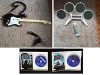 Selling Wii rock band video games 1 and 2. One wireless