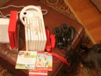 Rarely used Wii, special edition, 3 nunchucks, 10 games