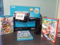 I have a Wii U 32gb deluxe edition for sale, the system