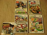 Lot of 5 Wii games for $35.  All in excellent working