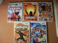 We have five different Wii games for sale five for