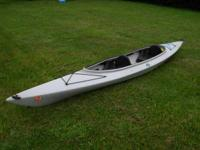 "14' 5"" Wilderness Systems gray Pamlico tandem kayak."