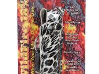 Wildfire 1/2 oz fashion leopard leatherette holster and