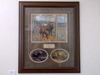 Like New, With Real Signature, Wood Frame & Glass 26 x