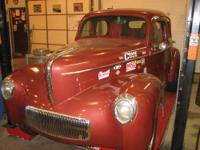 Vintage Willys drag/Street car. SBC, reverse shift