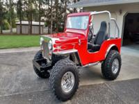 1953 Willys cj 3b Hi hood 350/375 horse small block