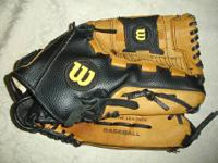 "This is a Wilson A350 MLB125 12.5"" Leather Pro Baseball"