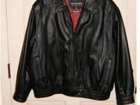 Wilson Black Leather Jacket - Brand New - Never Worn -
