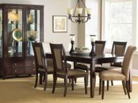 This Wilson dining room set comes with the table, six
