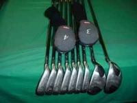 Set of Wilson Fat Shaft III Irons Stiff Steel Cut down,